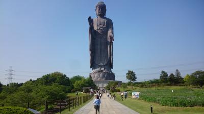 日帰り旅行 再びの茨城県 JAXAと牛久大仏 (3-3) 高さ世界一!圧巻の大仏