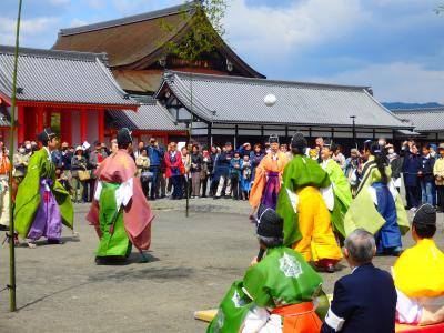 春の空 蹴鞠に興じる人々の声がたなびく ~京都御所の特別公開~