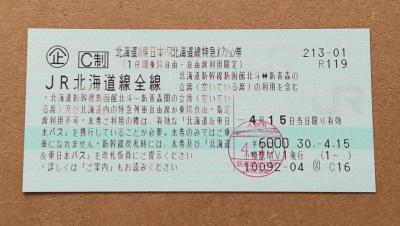 北海道&東日本パス 2018年4月 1日目:北海道線特急オプション券