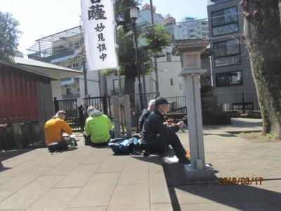 東京100景(2)東京ウオーク35キロ・雑司ヶ谷鬼子母神にて昼食。