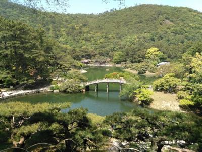 「高松・観音寺・丸亀」 四国旅行2日目 栗林公園・銭形砂絵・丸亀城と、うどん店を巡る旅