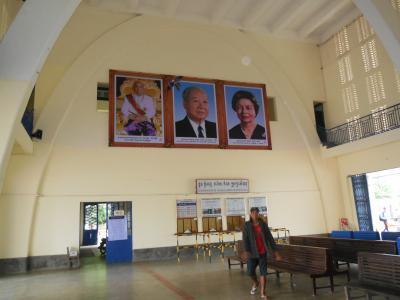 灼熱の大地カンボジアへ・その21/復活したカンボジア国鉄の南線始発駅のプノンペン駅とセントラルマーケットをぶらぶら