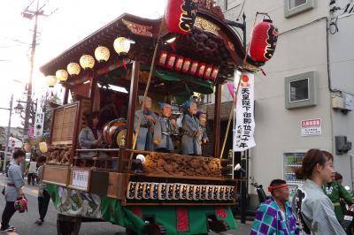 府中くらやみ祭りの山車整列