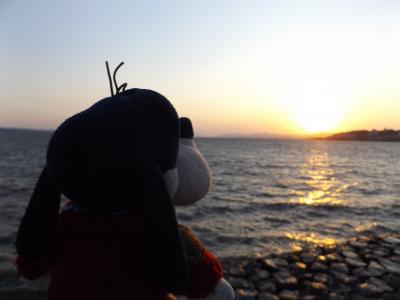 グーちゃん、GWに島根へ行く!(宍道湖の夕陽に感動!飛び出せ、青春!編)