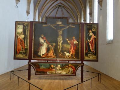 ウンターリンデン美術館でマティアス・グリューネヴァルトのイーゼンハイムの祭壇画をみる。