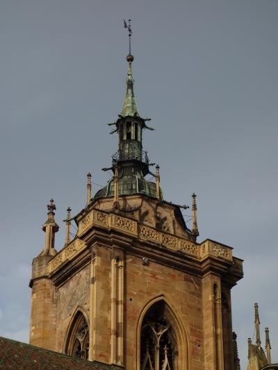 コルマールの早朝散歩。サン・マルタン教会に入りたかったが,開いてなかった。
