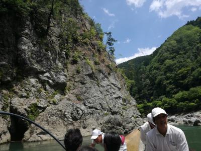 トロッコ列車と保津川下り(京都定期観光バス)