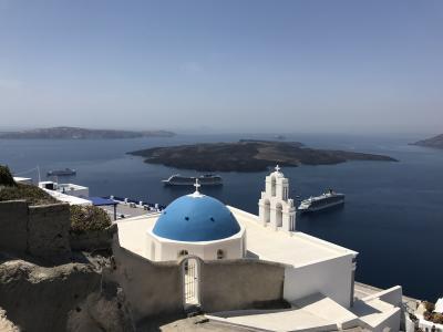 エーゲ海の絶景サントリーニ島と神話の街アテネを巡るギリシャの旅③ これぞサントリーニ!青と白の世界に感動