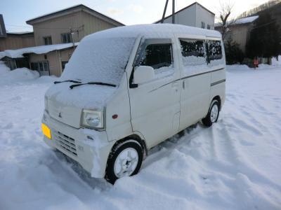 冬の民宿赤坂田逗留記・その2.旧シクタン丸で女将さんとるんるんドライブ♪。