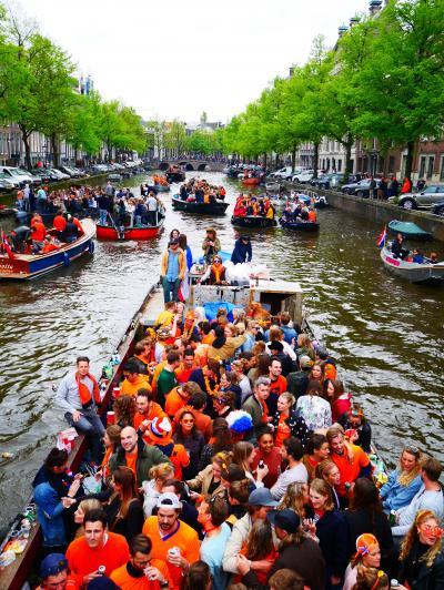 GW オランダ・ベルギー旅(2日目 アムステルダム 国王の日)