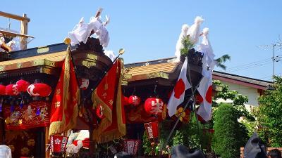 松尾神社 とんとこ祭りに行きましたが、体調不良のためダンジリの出発前に帰宅。