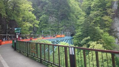 飛騨・富山・長野を周遊 (10-7) 黒部峡谷 トロッコ列車に初乗車