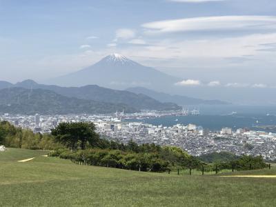 久能山に登って日本平から富士を眺める
