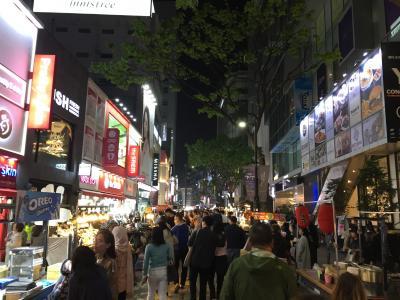 男4人で韓国3泊4日の旅 1日目~ソウル到着、明洞食べ歩き~