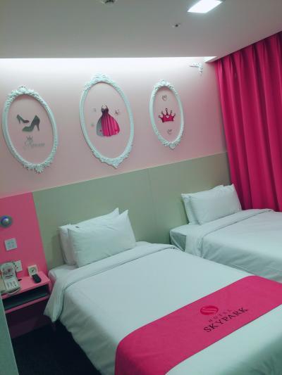 子連れソウル 東大門  で 泊まる 食べる 遊ぶ♪ピンクなガールズホテル♪はスカイパークキングスタウン