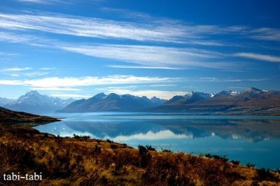 青きニュージーランド南島 ⑧ ( プカキ湖 ~ セアリーターン トレッキング ~ テカポ湖 )