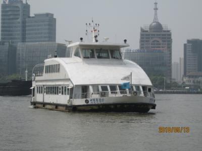上海の黄浦江・渡し舟・泰公線