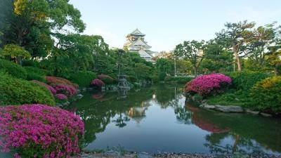 夕方に大阪城公園散歩