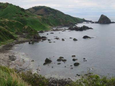 粟島のあわしま牧場を見てコミュニティバスで島一周して粟島浦村資料館見学