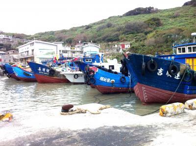 【台湾】台北から日帰り馬祖北竿島、島最南端の漁村白沙村で見た漁船