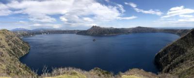 晴天の摩周湖一望