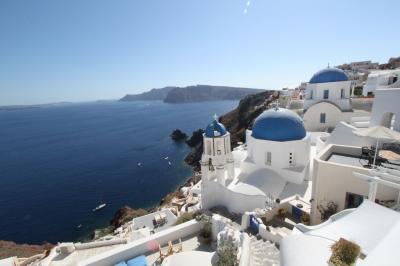 ヨーロッパ4カ国5都市周遊の母娘旅 l Day 3 - サントリーニ島