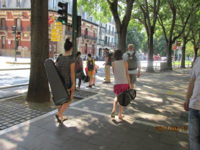 イベリア周遊の旅(158)街中を通ってホテルに向かう。