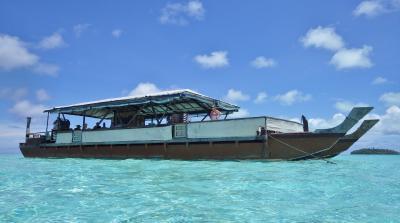 124. UA特典でクック諸島③見ずには死ねない青い海。アイツタキ日帰りツアー。