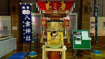 三木市 みき歴史資料館・・・御坂神社の祭り屋台展。