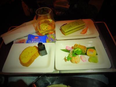 ニュージーランド航空プレミアムエコノミーは、機内食がビジネス並み