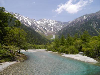 新緑の季節☆彡 奥飛騨温泉郷から上高地へ・・2泊3日でいって来ました。新緑の木々・残雪の山・澄みきったあずさ川・かわいい花たち・・すべてが美しかった上高地偏(1)♪♪