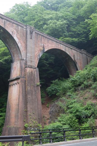 新緑の碓氷第三橋梁(めがね橋)