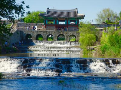水原華城を朝鮮王朝の歴史物語に思いを馳せながらぐるり1周ウォーキング!  < 万歩計と到着時刻も記載>