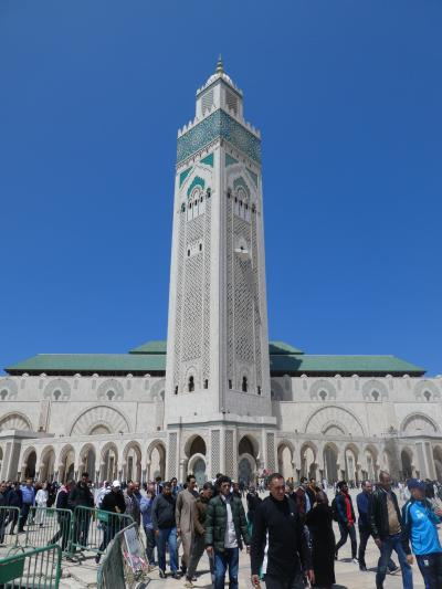 モロッコ / カサブランカ 白い街 大きなモスク