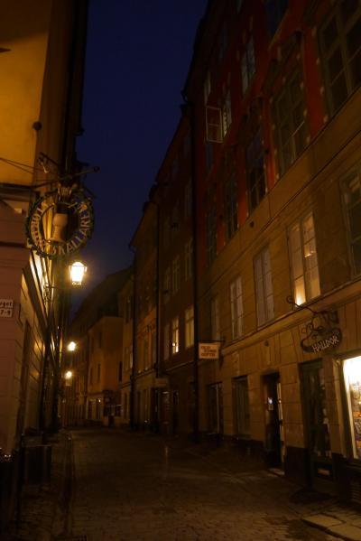 今年のGWは北欧のスウェーデンへ その9 静かな夜のガムラスタンをお散歩