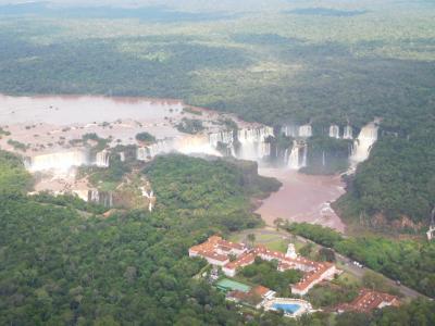 南米2018旅行記 【16】イグアスの滝(ブラジル側)1(ヘリコプター遊覧)