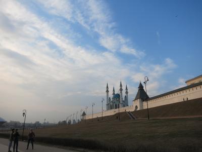 イスラム圏の薫り漂うロシアの街