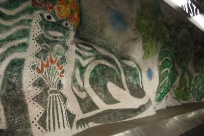 今年のGWは北欧のスウェーデンへ その17 ストックホルムの地下鉄はまるで美術館