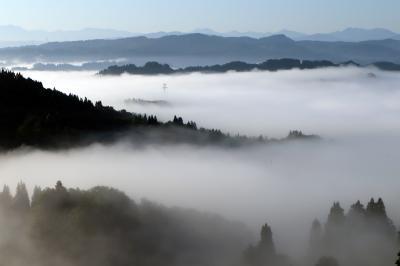 雲海の宿~田植えの終わった棚田~かやぶきの里・・・