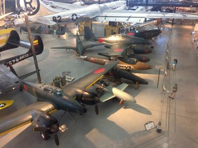 トランジットの間にスミソニアン博物館別館 (航空宇宙博物館)弾丸観光