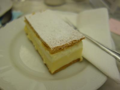とってもおいしいケーキをいただきました。オーストリアで一番です。