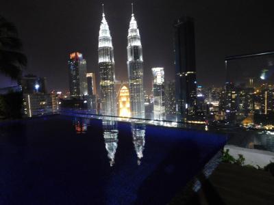 マレーシア 10(夕食(餃子大王)→マンション屋上からの夜景)