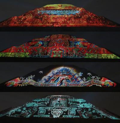 団塊夫婦の5回目の世界一周絶景の旅―メキシコ編(3)ティオティワカンでプロジェクトマッピングショー