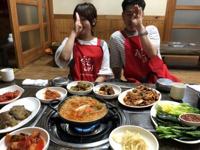 釜山一人旅 1,2日目 一人焼肉 ハニジェミ韓国語レッスン
