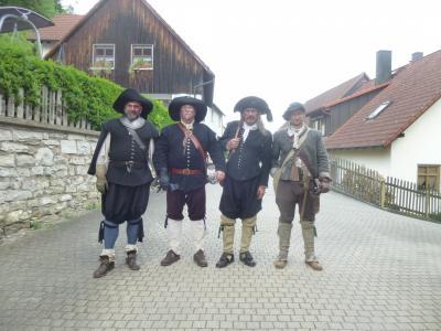 2018年ドイツの春:⑤5月13日フランケン・スイス地方の古城群:出くわした30年戦争時のツワモノども