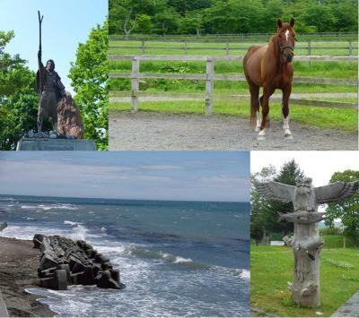 海と馬とアイヌ文化・・日高へのドライブ(1日目)