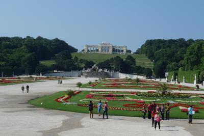 シェーンブルン宮殿の庭園。とてもひろくて歩きつくせません。