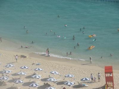 梅雨明けの沖縄へ(14)ニライビーチは夏真っ盛り&今日もアリビラの寿司食べ放題:どんだけ好きなのって?