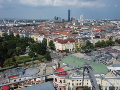 ウィーンでも高いところに上りましょう。プラーターの観覧車に乗りました。
