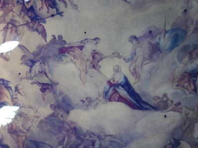 ペーター教会でロットマイヤーの「聖母マリアの被昇天」を見る。清純なマリア様に感動。